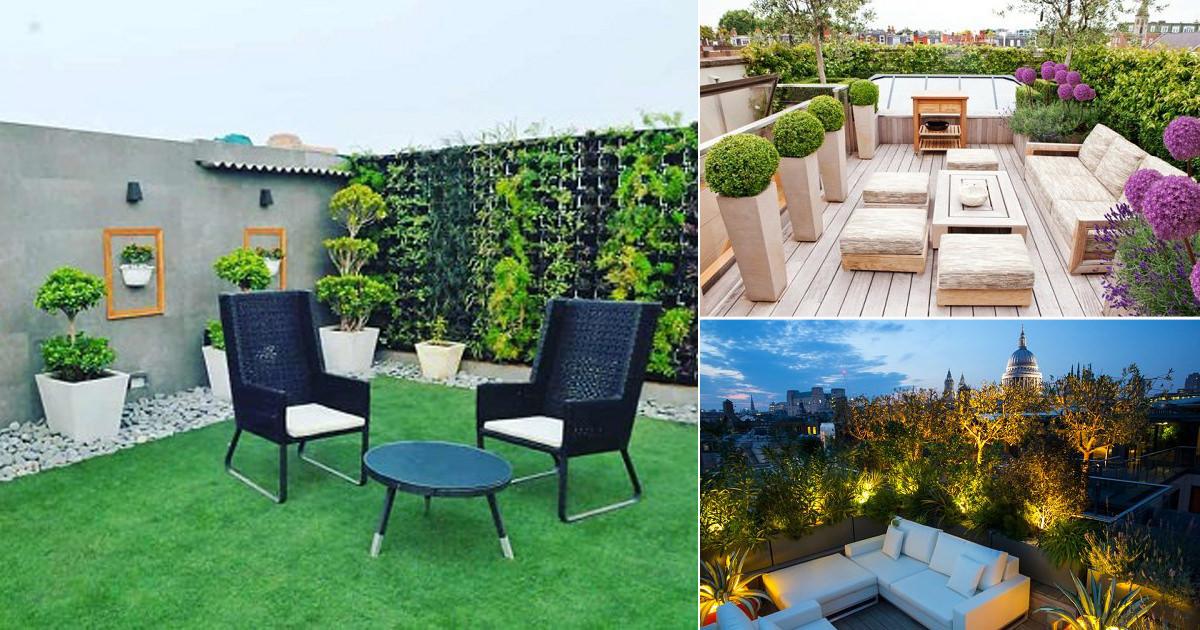 20 Beautiful Terrace Garden Ideas, Terrace Garden Design